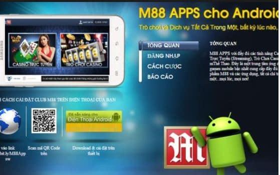 Cách tải ứng dụng M88 trên điện thoại thông minh