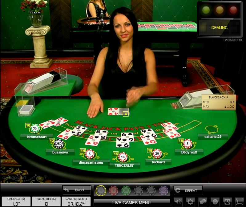 Luật chơi bài xì dách, blackjack