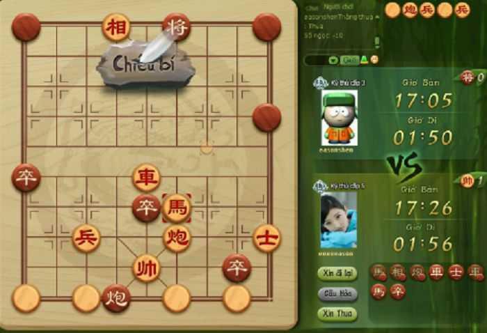 game co up doi thuong mang nhiều điểm giống với cờ tướng truyền thống