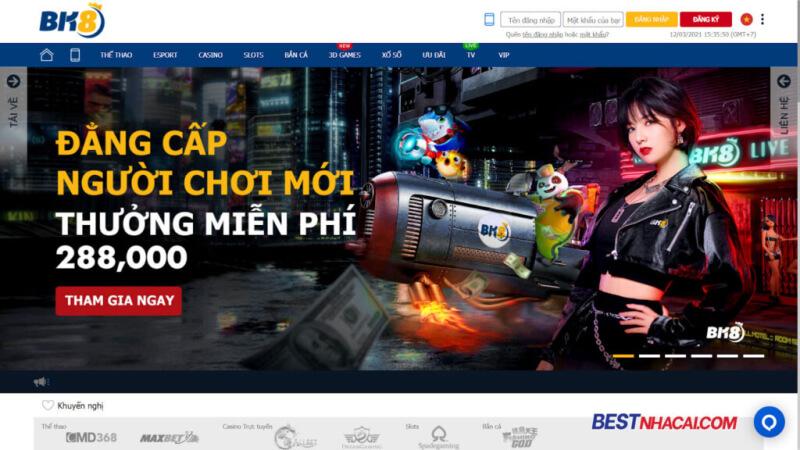 BK8 - Event Giftcode tháng 6: Chào người chơi mới - Tặng 288.000 đồng
